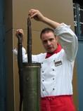 Chef in der Küche Sven Feldmann